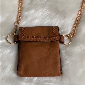 Coco + Carmen Bags - Coco + Carmen Small Leather Brown Crossbody NWT